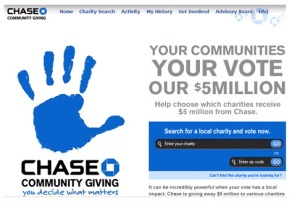 Chase allows the community to decide where it gives